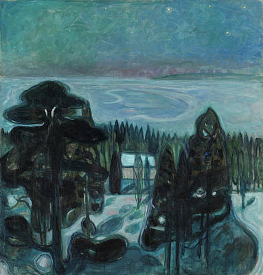 After Munch Painting - White Night by Edvard Munch