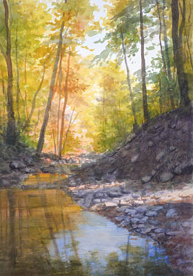 Painting - White Oak Canyon Autumn by Armand Cabrera