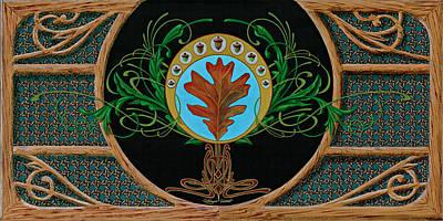 Pinstripes Painting - White Oak by Dewayne Connot