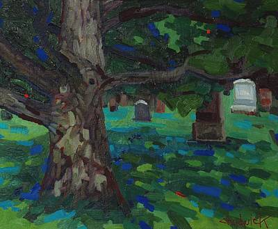 Killarney Painting - White Oak Shadows by Phil Chadwick