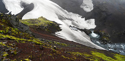 Art Print featuring the photograph White On Black In The Icelandic Highlands by Alex Blondeau