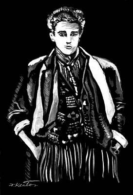 Painting - White On Black by John Keaton