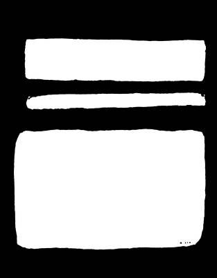Print Like Painting - White On Black by Marsha Heiken