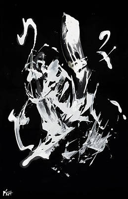 Painting - White On Black Series 10134.110509inv by Kris Haas