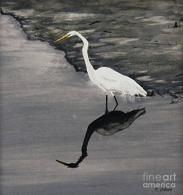 Painting - White On Gray by Carla Dabney