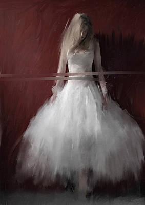 Tutus Digital Art - White On Red by H James Hoff