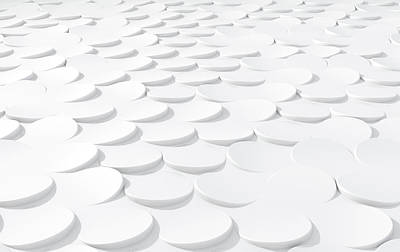 Repeat Digital Art - White On White Scale Peels by Allan Swart