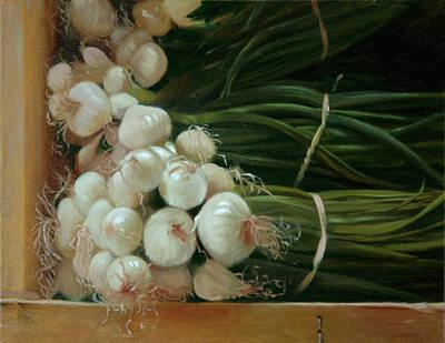 White Onions Art Print by Michael Lynn Adams