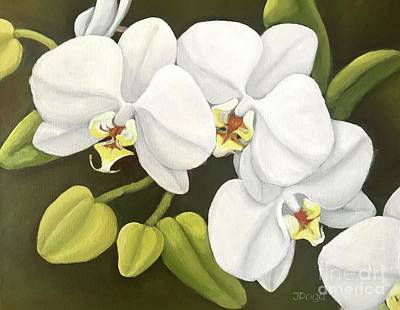 Painting - White Orchids by Inese Poga