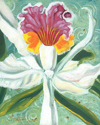 Painting - White Orchid by John Keaton