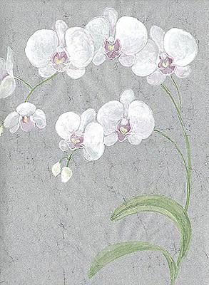 White Orchids On Sprigs  Art Print by Marja Koskinen-Talavera
