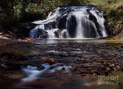 Photograph - White Owl Falls North Carolina - Waterfall Water Fall Landscape by Jon Holiday