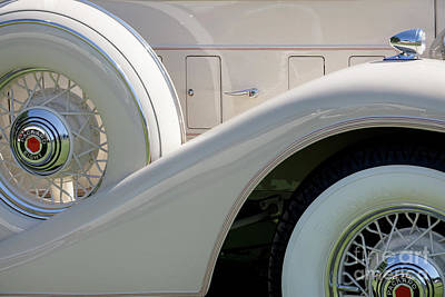 Photograph - White Packard by Dennis Hedberg