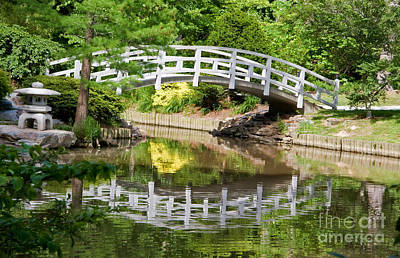 Photograph - White Painted Bridge Reflection by Jill Lang