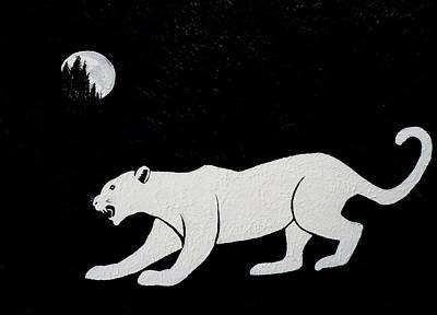 White Panther Art Print