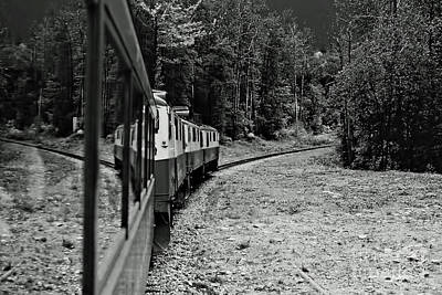 Photograph - White Pass Railroad B W by D Hackett