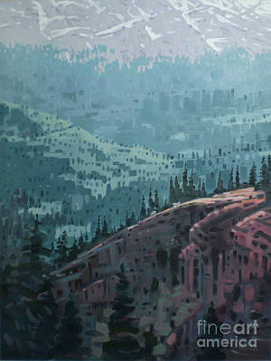 Mountain Goat Painting - White Pass To The Klondike by Donald Maier
