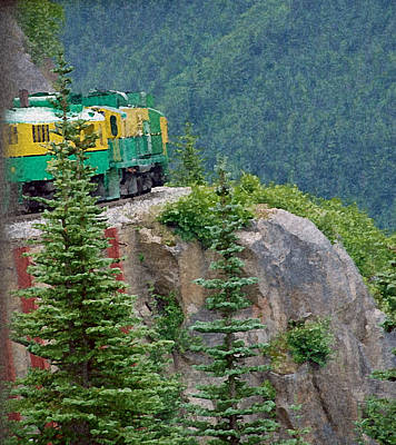 White Pass Train Alaska - Canada Art Print