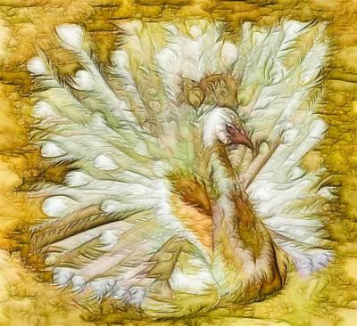 Borromeo Painting - White Peacock by Lanjee Chee