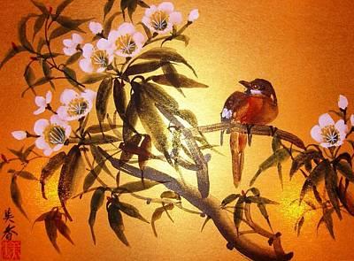 Pear Tree Mixed Media - White Pear Blossom by Anita Lau