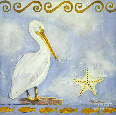 Painting - White Pelican by Sandra Neumann Wilderman