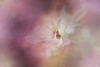Photograph - White Peony 1 by Jai Johnson