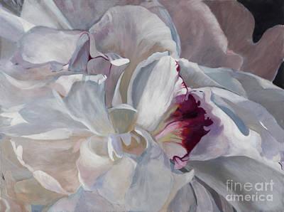 White Peony By Marilyn Nolan- Johnson Art Print