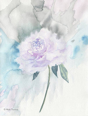 Painting - White Peony by Melly Terpening