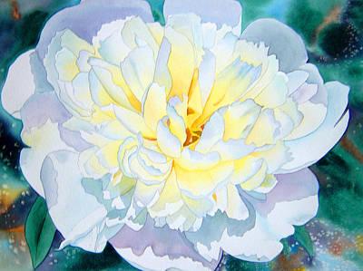 White Peony Art Print by Teresa Boston