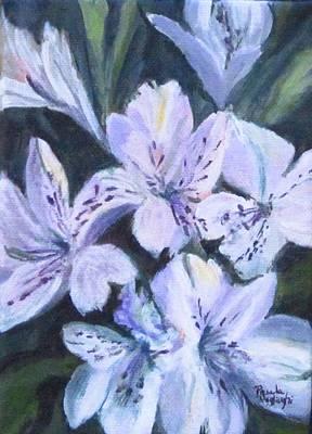 Painting - White Peruvian Lily by Paula Pagliughi
