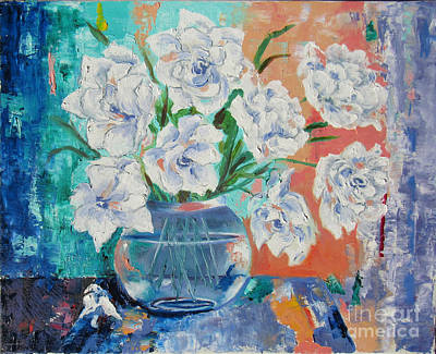 Painting - White Petals by Lisa Boyd