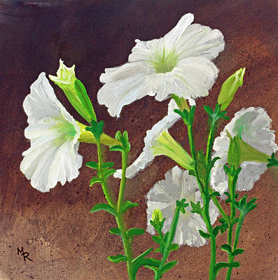 Painting - White Petunias by Mike Robles