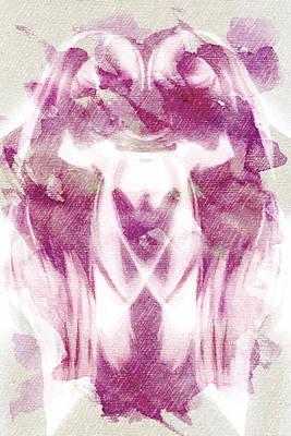 Digital Art - White Pi Flower by Andrea Barbieri