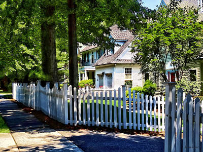 Photograph - White Picket Fence by Susan Savad