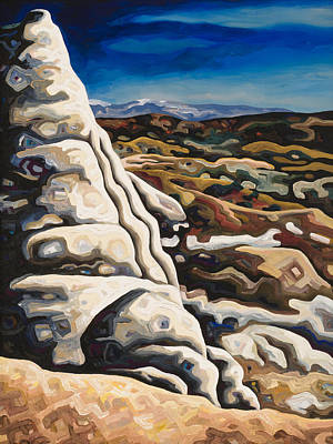 Abiquiu Painting - White Pillar by Dale Beckman