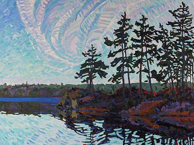 Morn Painting - White Pine Island by Phil Chadwick