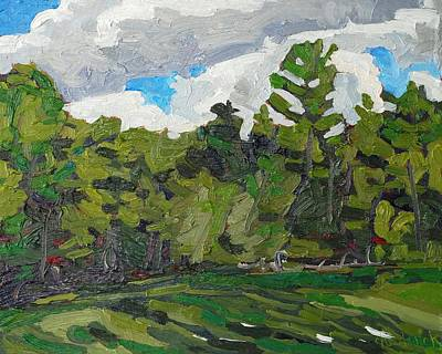 White Pine Sky Original by Phil Chadwick