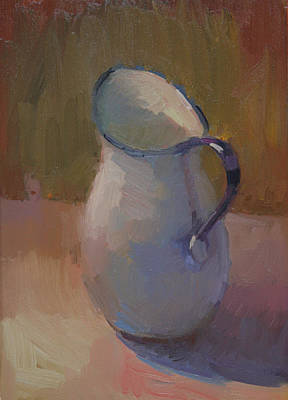 White Pitcher Art Print by Kathryn Townsend