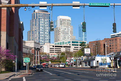Photograph - White Plains New York Skyline V by Clarence Holmes