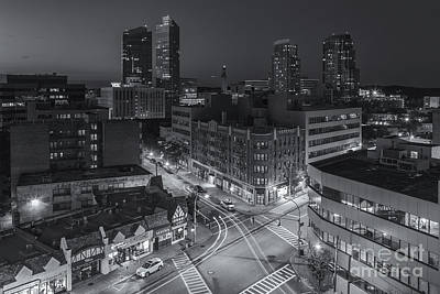 Photograph - White Plains Skyline At Twilight Iv by Clarence Holmes