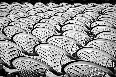 Photograph - White Plastic Chairs by Stuart Litoff