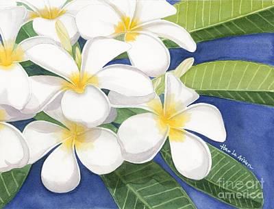 White Plumerias I - Watercolor Original