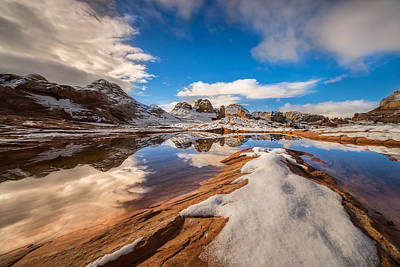 Ocean. Reflection Photograph - White Pocket Northern Arizona by Larry Marshall