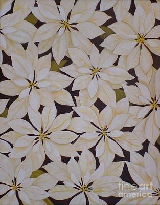 Painting - white Poinsettias by Carla Dabney