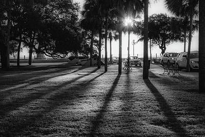 Photograph - White Point Garden Morning Light by Donnie Whitaker