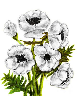 Painting - White Poppies by Irina Afonskaya
