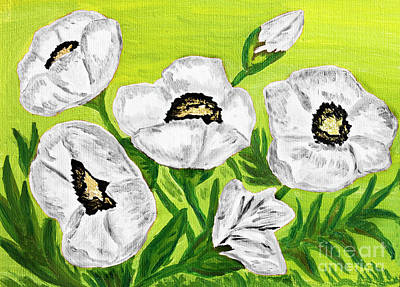 Painting - White Poppies, Oil Painting by Irina Afonskaya