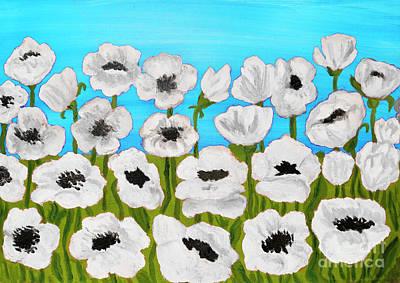 Painting - White Poppies, Painting by Irina Afonskaya