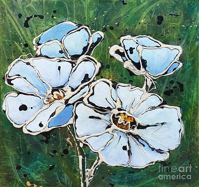 Painting - White Poppies by Phyllis Howard