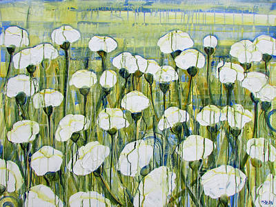 Painting - White Poppy Field by Diane Dean